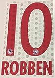 Flock Original FC Bayern München Trikot 23cm - Robben 10