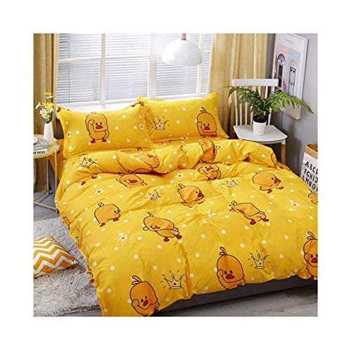 ZHAO ZHANQIANG Niedliche kleine gelbe Ente Bettwäsche-Sets 4 Stück Bettbezug-Sets (Multiple Size Selection) (Size : 2.2m Four-Piece Set) -