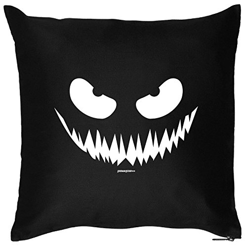 Motiv: Böser Blick - Grusel Gesicht - Halloween Deko für das Wohnzimmer - Couch - Sofa - schwarz (Gesicht-ideen Für Halloween)
