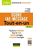 Score IAE-Message - 3e éd. : Tout-en-un (Score IAE MESSAGE t. 1) (French Edition)