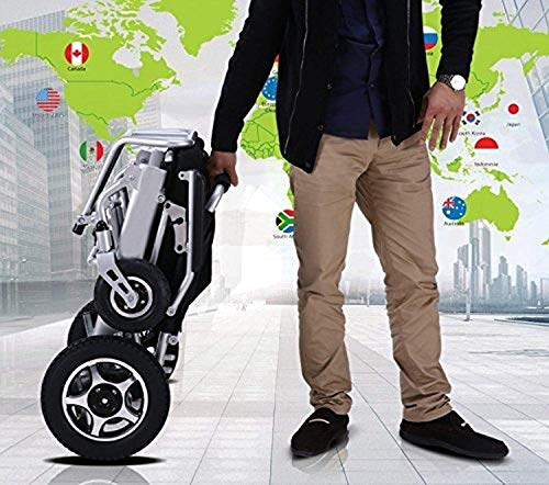 AGGF Neues Modell 2019 Falten & Reisen Leichter, motorisierter Elektrorollstuhl Roller, sicherer Elektrorollstuhl für die Luftfahrt - Elektro-roller-rampen
