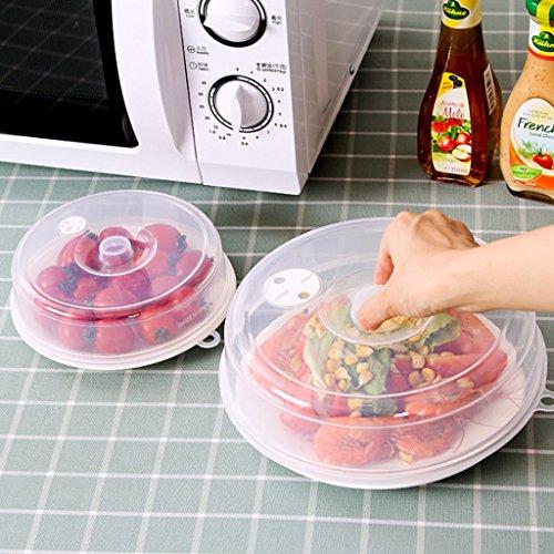 BIlinl Plástico Cubierta de la Placa de Microondas Cubierta Transparente del Vapor...