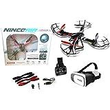 Drone radiocontrol con cámara modelo Quadrone Shadow WIFI FPV+ Gafas VR. Pilota como si estuvieras dentro del drone