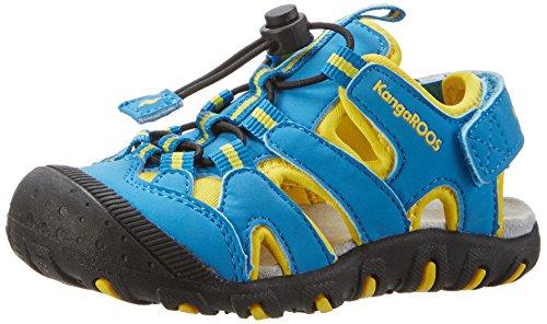 KangaROOS Unisex-Kinder Kangaspeed X1 Geschlossene Sandalen, Blau (Blue Radiance/Yellow), 24 EU