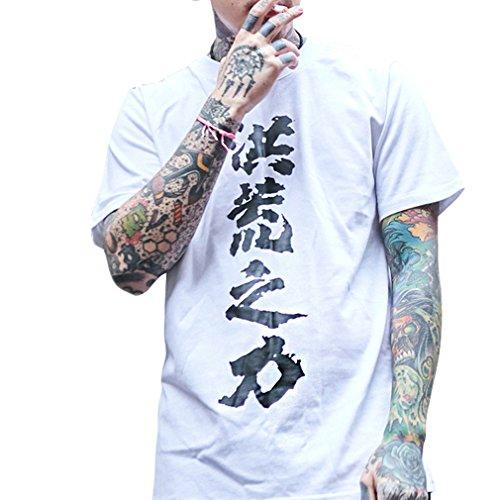 Honghu Herren Crew Neck T-shirt Weiß HHZL