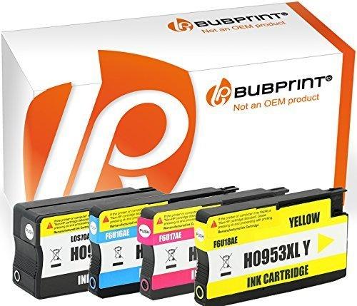 Bubprint 4 Druckerpatronen kompatibel für HP 953XL HP 953 XL OfficeJet Pro 8710 8715 8720 8725 hp953xl 8730 8210 8740 Multipack Patronen set all-in-one wide