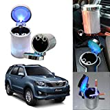 Oshotto Premium Multiple LED 68 Ash Tray for Toyota Fortuner - Multicolor