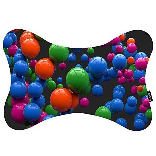 i FaMuRay Cuscini da Collo Colorful Shiny Balls Floating Pattern