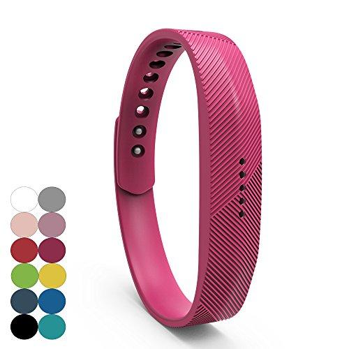 iFeeker Für Fitbit Flex 2 Zubehör Ersatz Armband Classic Weiche Silikon Metall Schließe Uhr Buckle Design Armband Halter Tasche für 2016 Fitbit Flex 2 Fitness Activity Tracker (Klein oder Groß) -