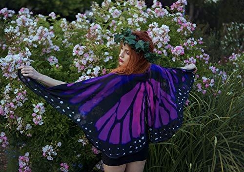 Schmetterlingsflügel Monarch Cape Pink und lila Mantel Flügel Kostüm kurze kleine Fantasie Halloween Tanz