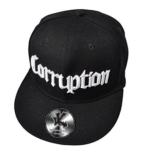 CORRUPTION Noir Casquette de Baseball Réglable (Black Snapback)