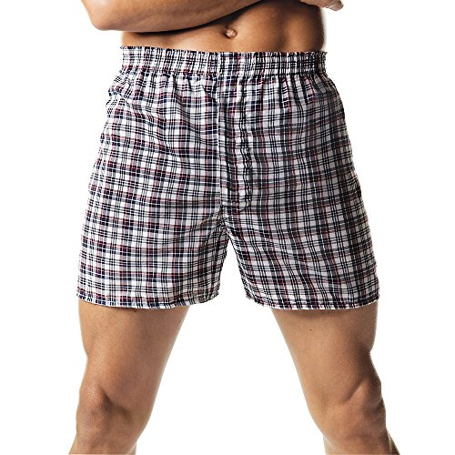ComfortSoft Tagless Herren Tartan Boxers 2-Pack (Tartan Boxer Hanes)
