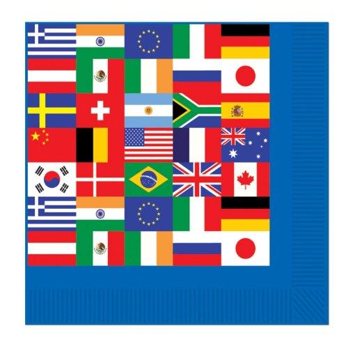 Party-Servietten Internationale Flaggen (Internationale Flaggen-party)