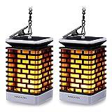 Solarleuchten für Außen NACATIN 99 LED Flackernde Flammenlampe IP55 Wasserdicht Dekoration Lampen Hängeleuchte für Haus Garten Balkon Hof Automatisch An/Aus(2 Stücke)