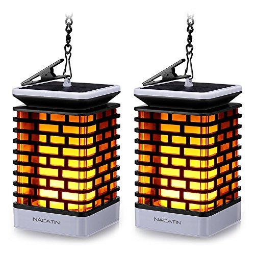 ußen NACATIN 99 LED Flackernde Flammenlampe IP55 Wasserdicht Dekoration Lampen Hängeleuchte für Haus Garten Balkon Hof Automatisch An/Aus(2 Stücke) ()