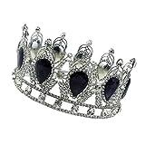 MagiDeal Tiare Principessa Corana Da Regina Di Nozze Diadema Accessori Dei Capelli immagine