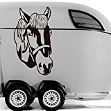 malango® Autoaufkleber Pferdekopf Aufkleber Sticker Tier Pferd Kopf Design Styling Dekoration Szene Tuning 80 x 130 cm rot rot 80 x 130 cm