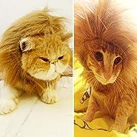Suerte Se León Mane peluca para perro mascota Adorable Sombrero Vestido con Orejas de gato o