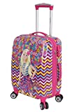 #9: Disney Barbie 46 cm ABS Hard Sided Kids Cabin Luggage - Trolley/Travel/Tourist Bags (Humpy Dumpty), Pink Multi