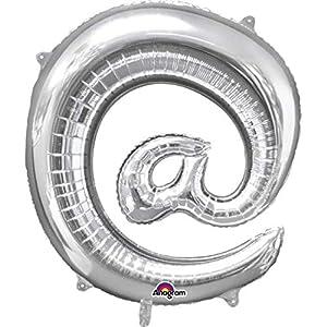 amscan 3306401 - Globo de Papel Aluminio, diseño con Texto @, 40,64 cm