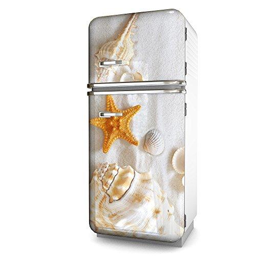 Kühlschrank-Folie Seestern selbstklebend mehrere größen | Sticker-folie | Klebefolie | Kühlschrank-Aufkleber | Front-folie | Dekoration | Küche | Deko-folie | Möbel-folie | Vinyl-folie