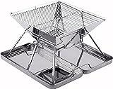 SANNO BBQ Vertrag den beweglichen Holzkohle Grill gebildet vom rostfreien Stahl tragen-auf BBQ Grill für das Kampieren, Picknicks, wandernd, Hinterhöfe, überleben, Dringlichkeitsvorbereitung faltet
