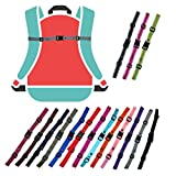 GURTIES® Brustgurt für Schulranzen Schulrucksack Rucksack universal 20 Farben