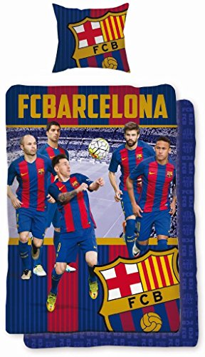Fútbol cama FC Barcelona FCB fcbarcelona Barca Messi 169Bed Linen Football 160x 200cm + 70x 80cm