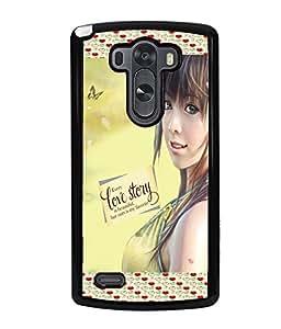 Fuson Love Girl Back Case Cover for LG G3 - D4050