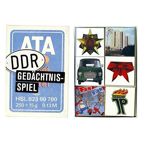 DDR Gedächtnisspiel ++ DAS Ostprodukte Geschenk – DDR Traditionsprodukt und Ossi Kultprodukt – Geschenkidee für alle Ostalgiker aus Ostdeutschland vom Ostprodukte Experten – Ostpaket mit DDR Klassiker – Ideal für jedes DDR Geschenkset ++ GRATIS: Zu jeder Lieferung erhalten Sie immer genau die hier angezeigte DDR Geschenkkarte (copyright Ostprodukte-Versand) !! ++