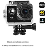 Lambent 4K Wifi Sports Action Cam Camcorder Ultra HD Digital Wide Angle Camera