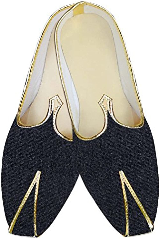 INMONARCH Hombres Boda Zapatos Artesanal Marina Oscuro MJ015706
