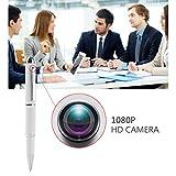 Spionage-Kamera-Tragbare Mini 1080p HD-Kamera Stift - mit Bewegungsmelder - ideal für heimliche Überwachung / Kleine Nanny-Cam - 6 Tintenpatronen, kostenlose 16-GB-Karte enthalten-Versteckte Kamera