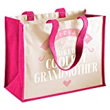Grandmother Gift, nonna regalo per compleanno, regalo, personalizzabile, nonna, nonna, nonna, borsa grande regali regali, nonna divertente regali, nonna da nipote, nonna, nonna, borsa, borsa per la spesa, Tessuto, Fuchsia, 42 x 33 x 19cm