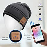StillCool drahtlose Bluetooth Beanie Bluetooth-Mütze mütze wintermütze mit Musik phone Freisprech für Fitness Outdoor Sport Wandern Weihnachtsgeschenke Bestes Weihnachts-Geschenke (grau)