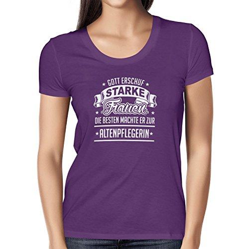 TEXLAB - Altenpflegerin - Damen T-Shirt Violett