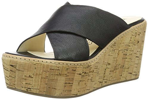 Buffalo London 315-6314 Cow Leather, Sandali con Zeppa Donna, Nero (Black 01), 38 EU