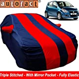#6: Autofact Car Body Cover for Maruti Ritz (Mirror Pocket , Premium Fabric , Triple Stiched , Fully Elastic , Red / Blue Color)
