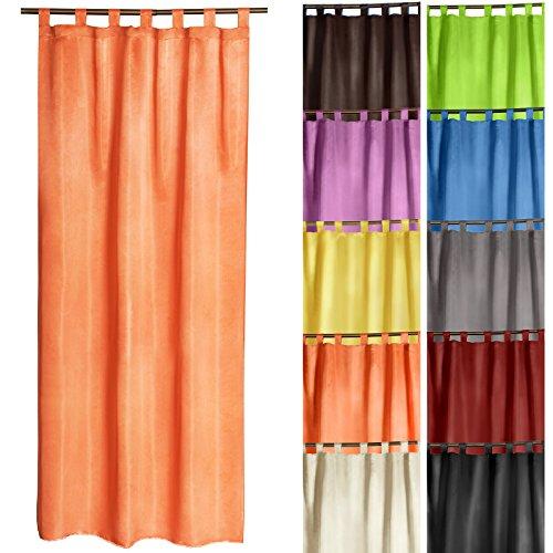 miadomodo-rideau-a-passants-semi-transparent-175-x-135-cm-orange-taille-et-coloris-au-choix