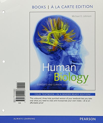 Human Biology: Concepts and Current Issues, Books a la Carte Plus MasteringBiology with eText -- Access Card Package (8th Edition) by Michael D. Johnson (2016-02-12)