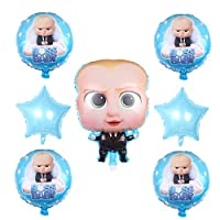 7 Pcs baby boss Balloons Party Supplies,18 Inch Large Foil Balloons For baby boss Theme Birthday Party Decorations