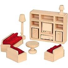 """Beluga 70112  - Muebles de casa de muñecas """"sala de estar, de 11 piezas"""