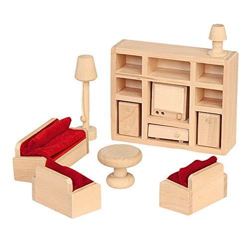 """Beluga Spielwaren 70112 - Puppenhausmöbel """"Wohnzimmer"""", 11-teilig"""