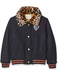 Scotch & Soda Woolen Bomber Jacket with Detachable Faux Fur Collar, Giacca Bambina