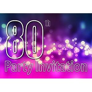 80th Theme Birthday Party Einladungen Einladungen Kinder Erwachsene Männer/Frauen