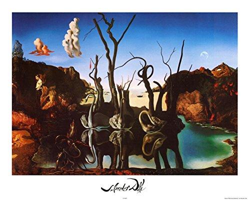 Salvador Dali – Cisnes que se reflejan como elefantes ca. 1937 Artistica...
