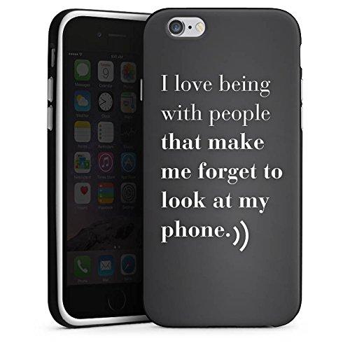 Apple iPhone X Silikon Hülle Case Schutzhülle Telefon Liebe Sprüche Silikon Case schwarz / weiß