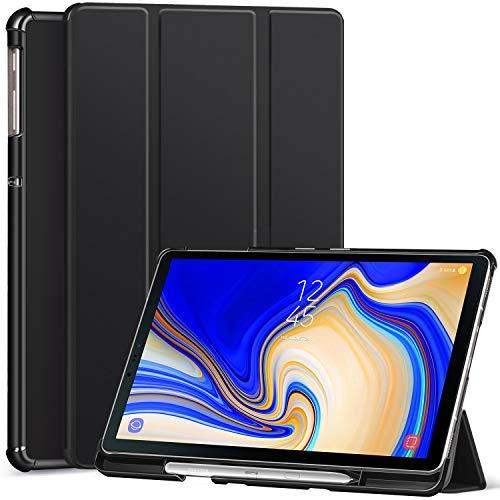 Ztotop Hülle für Samsung Galaxy Tab S4 10,5 2018 mit S Pen Halter,für Modell SM-T830/T835/T837,Leichtgewichts-Ultra Schlank Leder Hülle mit Ständer & Auto Schlaf/Aufwach Funktion,Schwarz