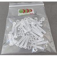 Pacco di 20 Acrilico Bulloni e Dadi M4 x 20mm in Plastica Trasparente - Acrilico Viti