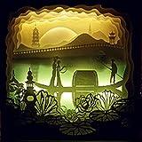 Papier découpé léger ombre sculpture sculpture lampe de table décorative lampe usb lampe veilleuse...